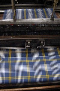Corporate tartan for Continental Airlines from Geoffrey The Tailor, Edinburgh
